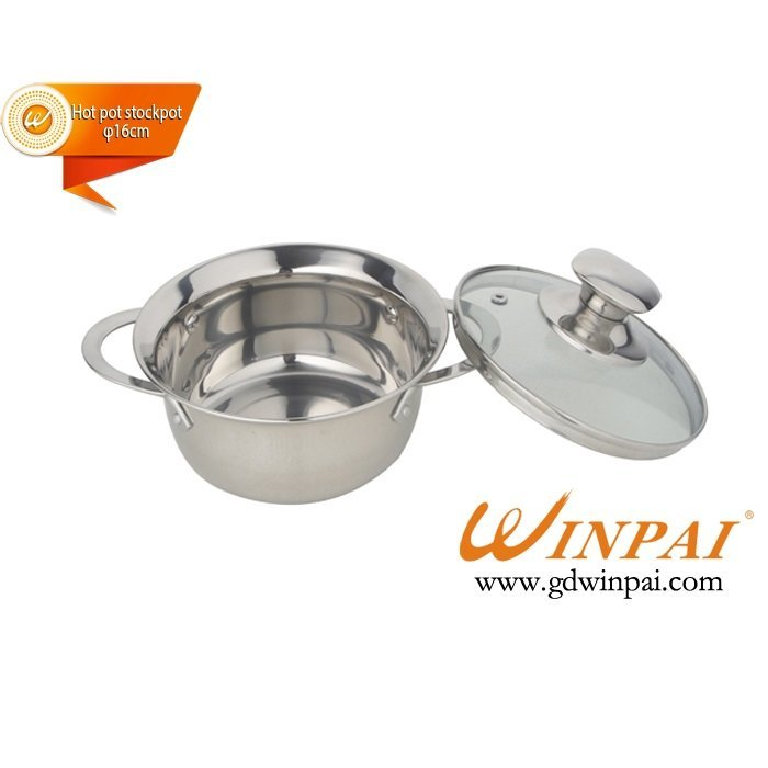 High quality stainless steel hot pot stockpot-WINPAI smile pot