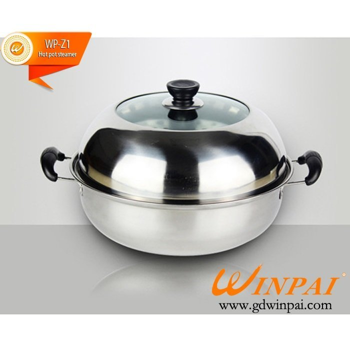 Best quality steamer pot Stainless steel steamer hot pot steamer-WINPAI