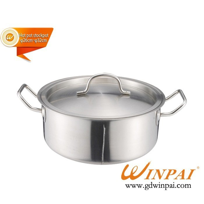 High-grade double bottom duck hot pot,hot pot stockpot (with pot lid)-WINPAI