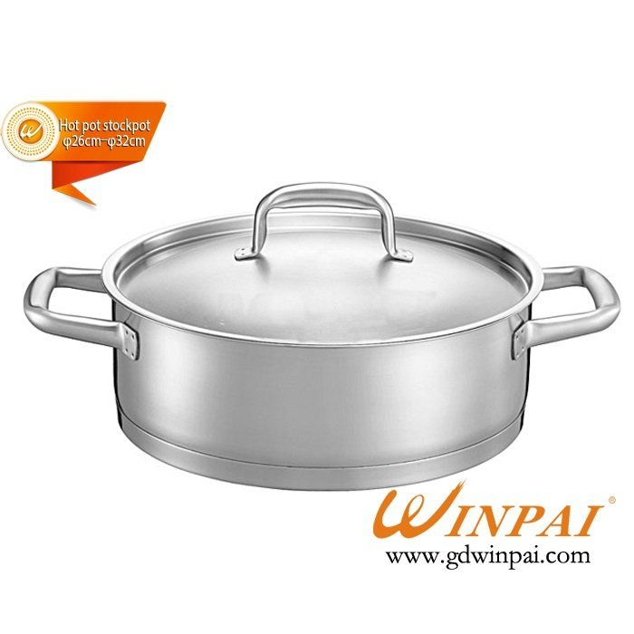 High-end double bottom duck hot pot dish,hot pot soup pot-WINPAI