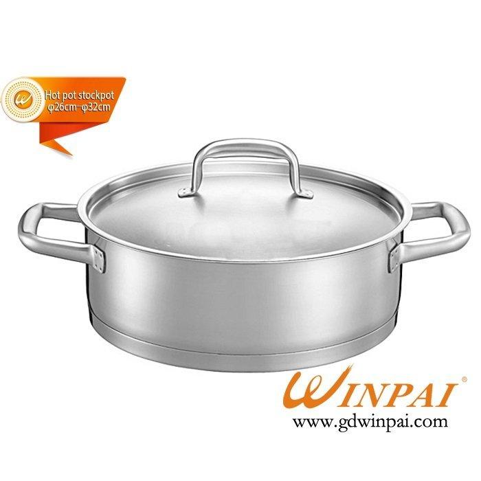 High-end double bottom duck hot pot dish,hot pot soup pot-WINPAI