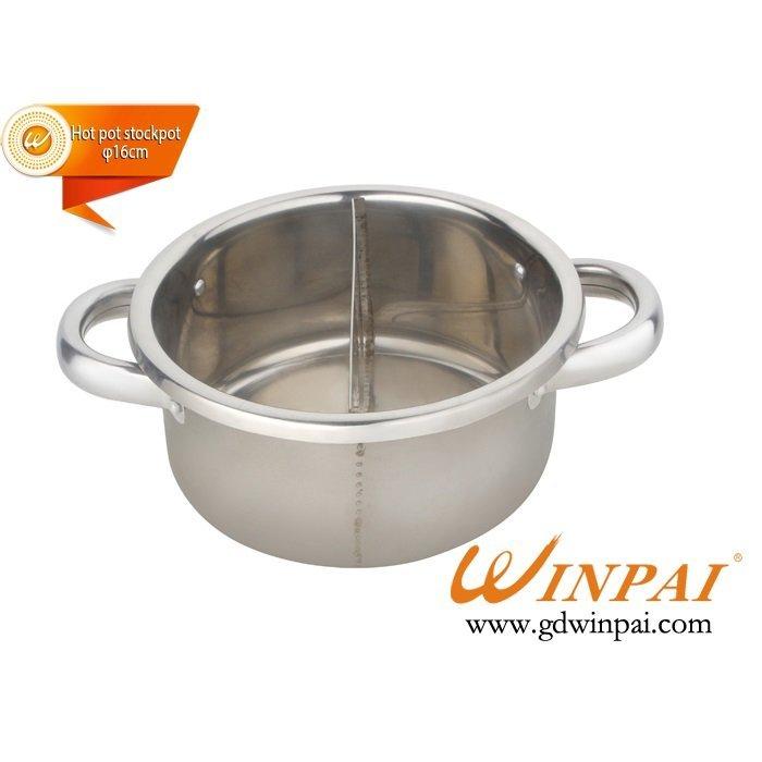 Good design No curling with grid small hot pot stock pot-WINPAI