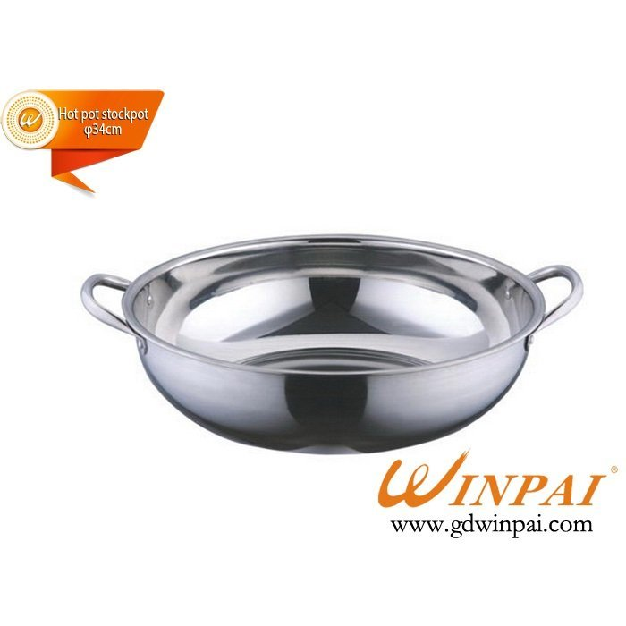 High quality stainless steel soup pot,hot pot stockpot with ears-WINPAI