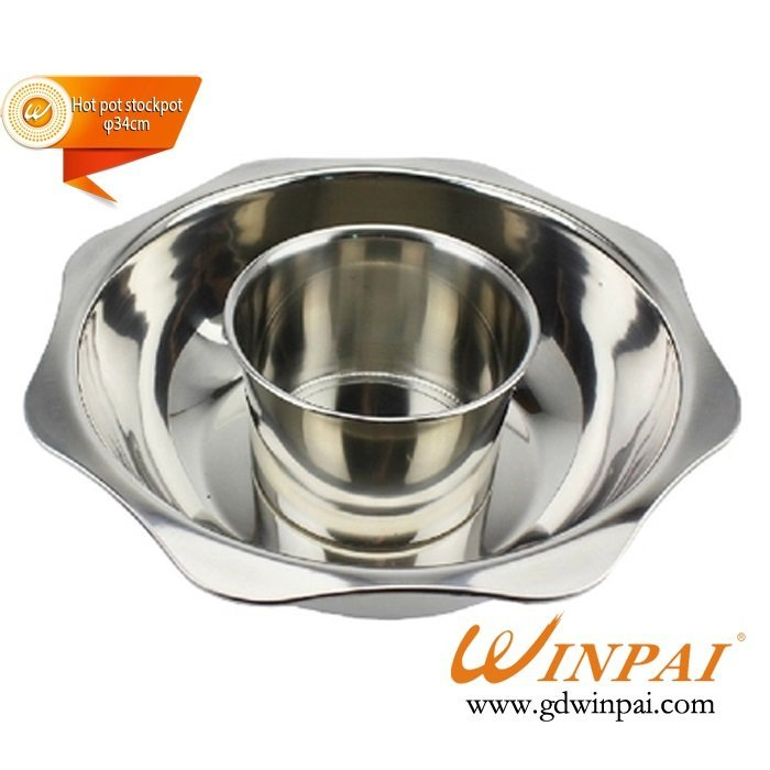 New style stainless steel hot pot stockpot,hot plate cooker pot,soup pot-WINPAI
