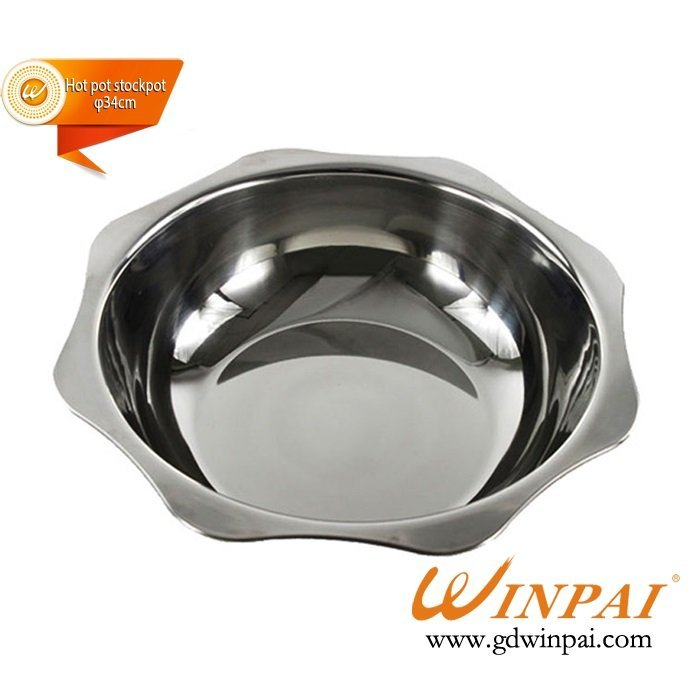 Fine stainless steel sun fondue pot soup pot hot pot stock pot-WINPAI