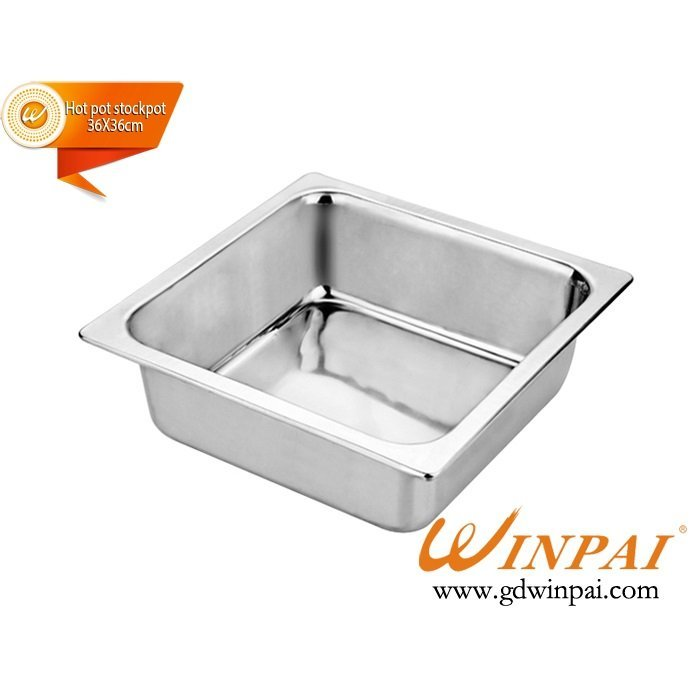 WINPAI square stock pot, chinese hot pot stockpot