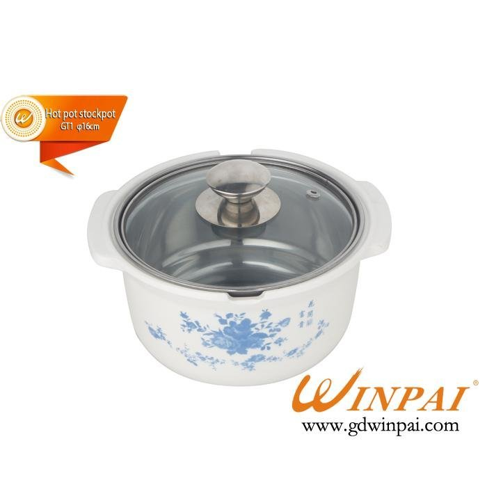 2015 Single Stainless Steel Hot Pot Stockpot produced by WINPAI