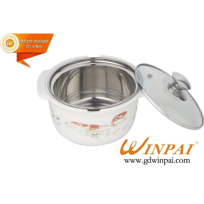 Small Stainless Steel asia hot pot,soup pot,stockpot in Shunde,Guangdong