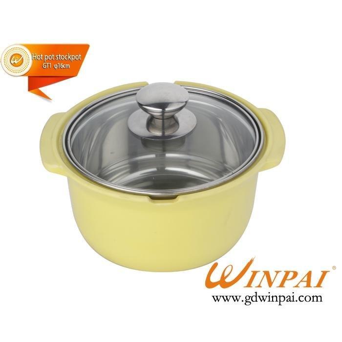 WINPAI Small Stainless Steel asia hot pot,soup pot,stockpot