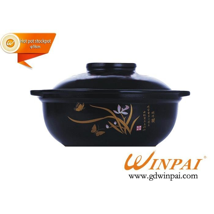 Luxury Ceramic hot pot stockpot with porcelain guide-WINPAI
