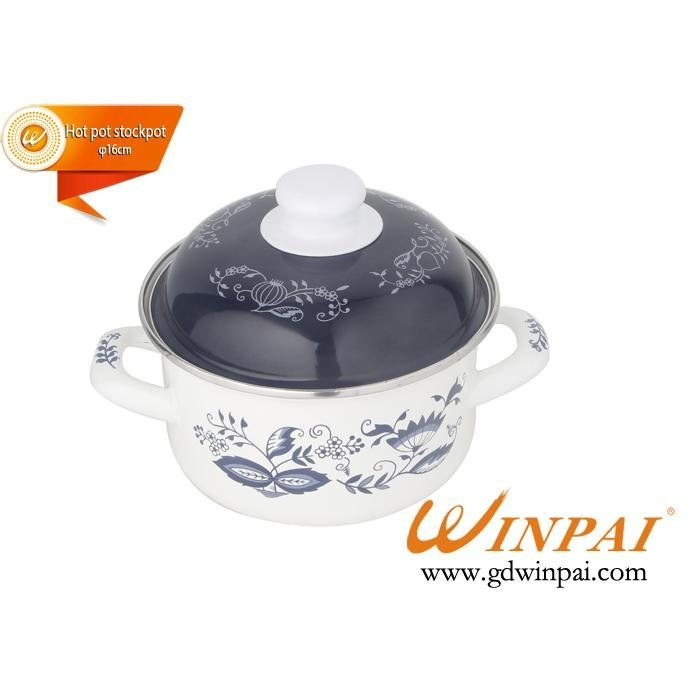 2015 Mini enamel hot pot stockpot with orchid-WINPAI