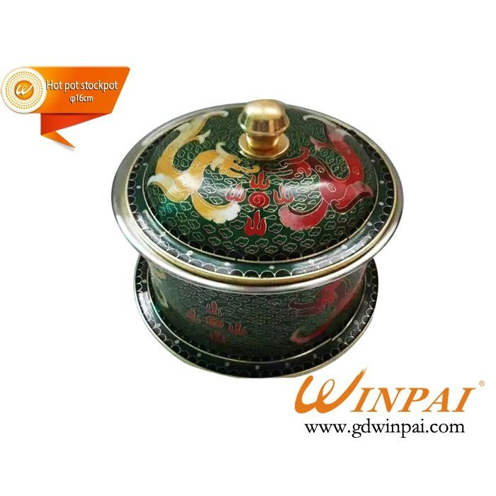 new style cloisonne copper pots,hot pot stockpot-WINPAI