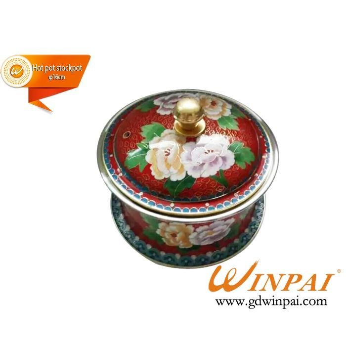 Nice cloisonne copper pots,hot pot stockpot-WINPAI