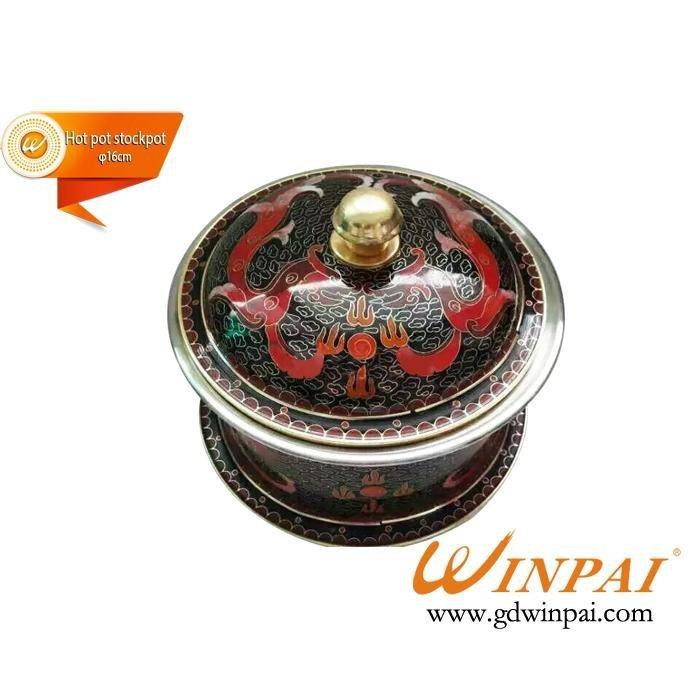 Special mini cloisonne copper pots,hot pot stockpot-WINPAI