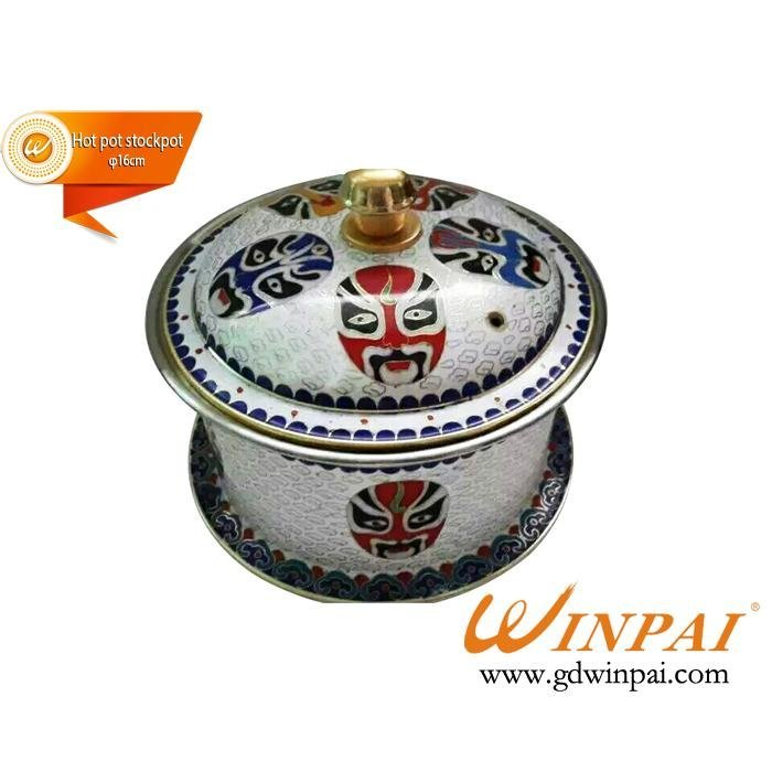 WINPAI mini cloisonne copper pots,hot pot stockpot