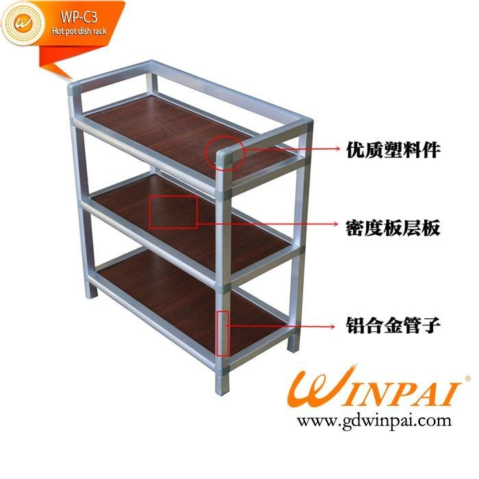 Multifunctional Hot pot dish rack,hotel,restaurant dish rack-WINPAI
