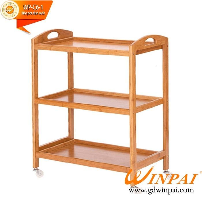 WINPAI wooden Hot pot dish rack,hotel,restaurant dish rack in Shunde,Guangdong