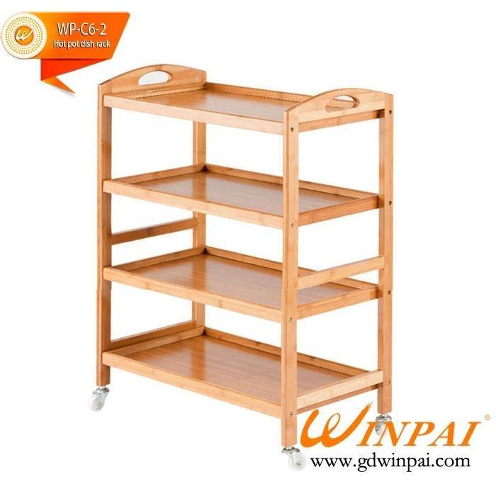 New style wooden Hot pot dish rack,hotel,restaurant dish rack-WINPAI