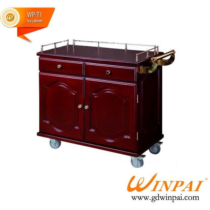 Luxury tea cabinet / wood tea cart / restaurant tea car / hotel pantry car-WINPAI