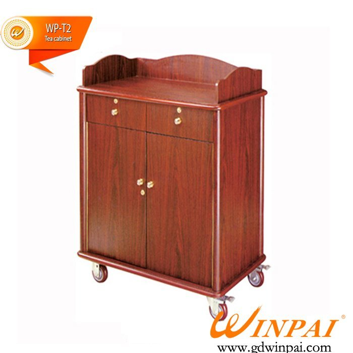 Best quality tea cabinet / wood tea cart / restaurant tea car / hotel pantry car-WINPAI