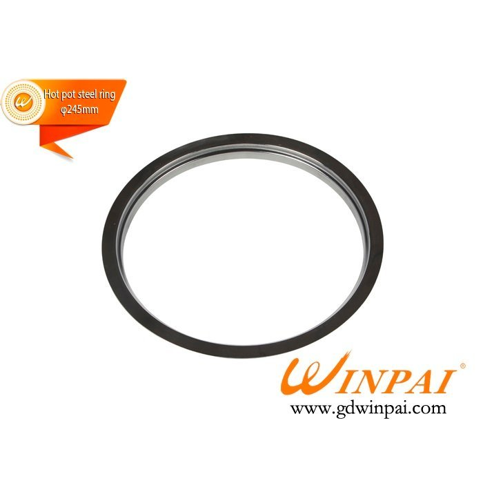 Round Stainless Steel Hot Pot Pot Ring for hot pot induction cooker-WINPAI