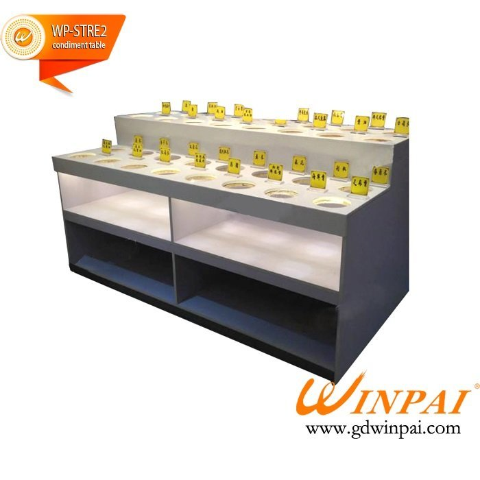 Manufacturers custom buffet hotpot restaurant sauce self-service restaurant condiment table by WINPAI