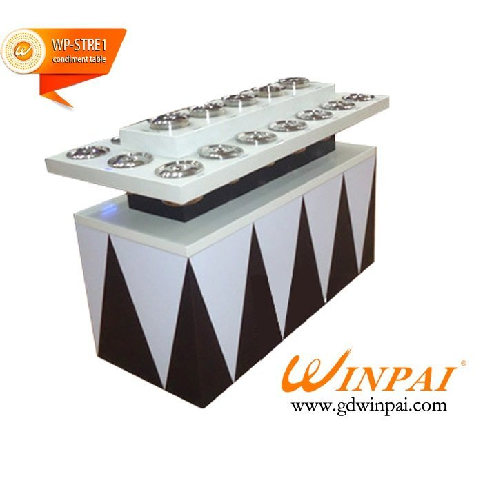 Modern self-service restaurant condiment table,the sauces and condiments station-WINPAI
