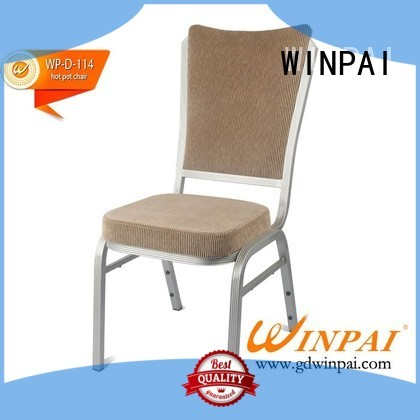 WINPAI professional metal restaurant chairs wholesale for indoor