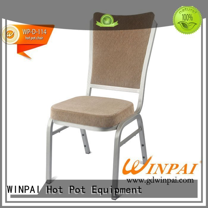 WINPAI safety metal design chair company for restaurant