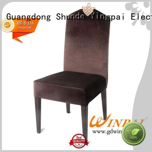 WINPAI Best Aluminum Armrest Chair manufacturer for restaurant