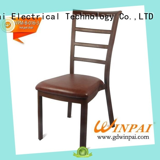 WINPAI steel large metal dining chairs Supply for home