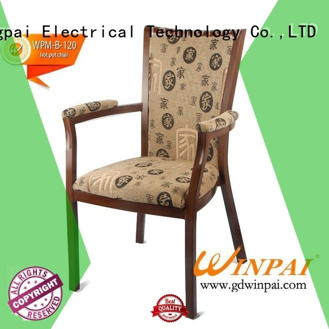 WINPAI highgrade industrial style metal chairs Supply for restaurant
