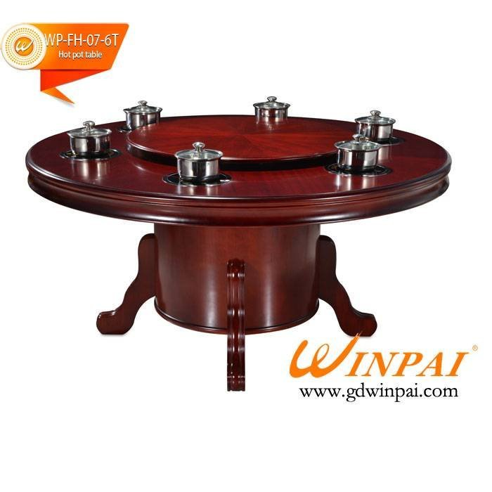 New style round popular restaurant hot pot table for sale-WINPAI