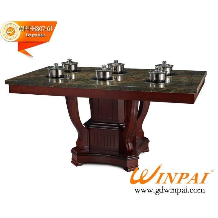 2015 WINPAI Artificial Marble Hop Pot Table