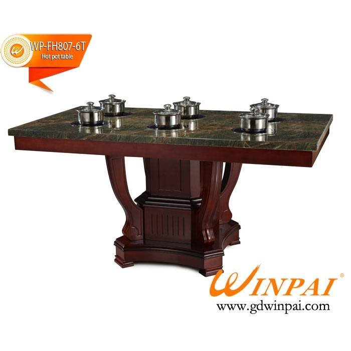 2015 WINPAI Artificial Marble Hop Pot Table