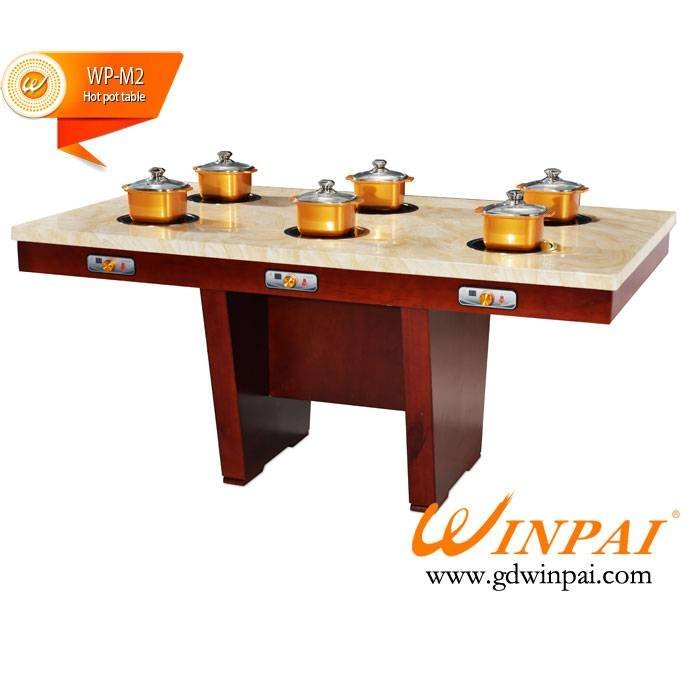 Rectangle restaurant hot pot table in Guangdong,WINPAI