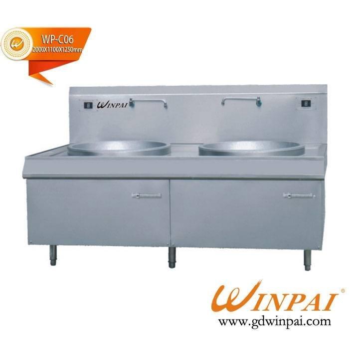 Double kitchen commercial induction cooker pot