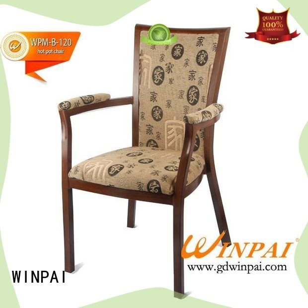 WINPAI design lightweight steel chairs manufacturers for home