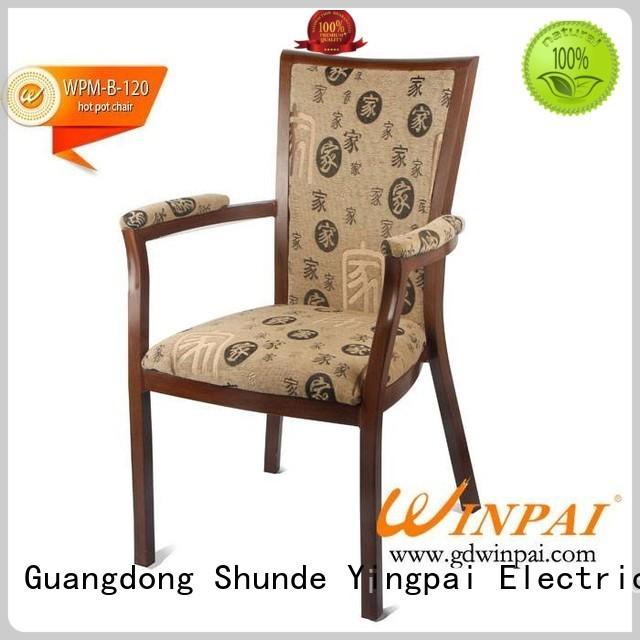 WINPAI design modern metal kitchen chairs Supply for indoor