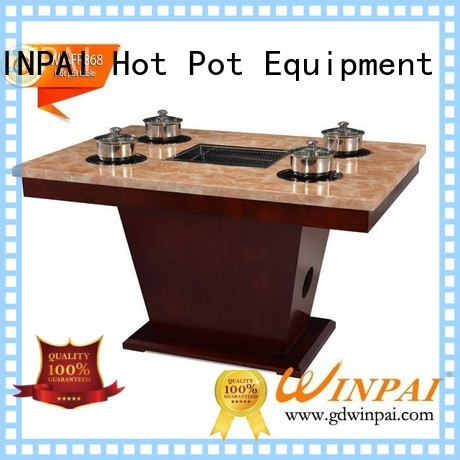safety korean barbecue grill table square manufacturer for hot pot city