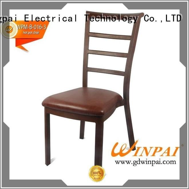 comfortable red metal restaurant chairs aluminum supplier for restaurant