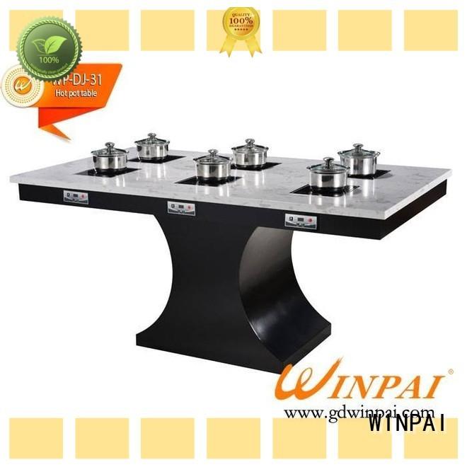 WINPAI wooden shabu shabu pot stainless steel manufacturer for cafe