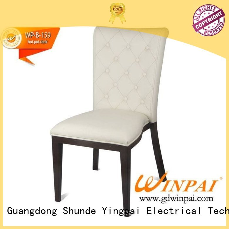 WINPAI brushed metal dining chairs for business for restaurant