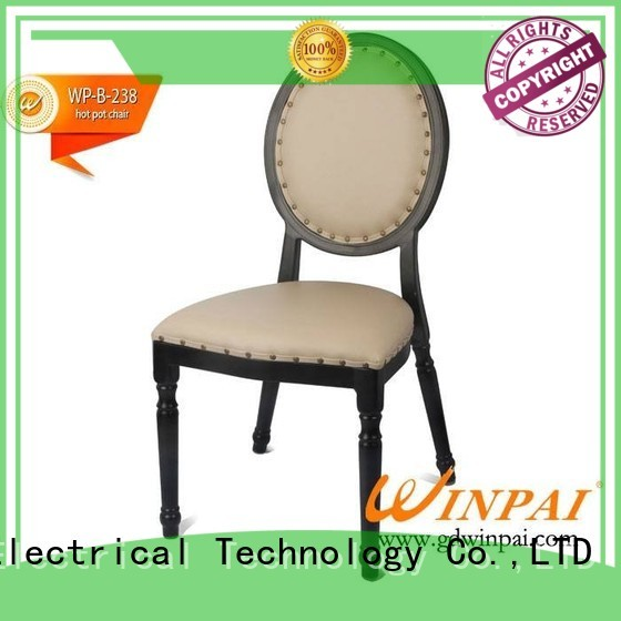 WINPAI fancy metal restaurant chairs manufacturer for restaurant