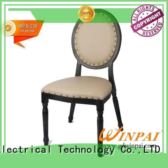 WINPAI fancy metal restaurant chairs manufacturer for restaurant