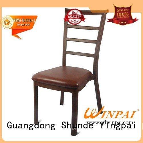 Hotel Aluminum Chairs sale chairs OEM Metal hot pot chair CNWINPAI