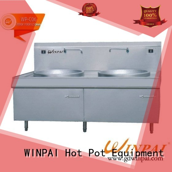 copper stock pot rectangle equipment Warranty WINPAI
