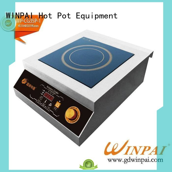 smokeless hot pot accessories stove wholesale for restaurant