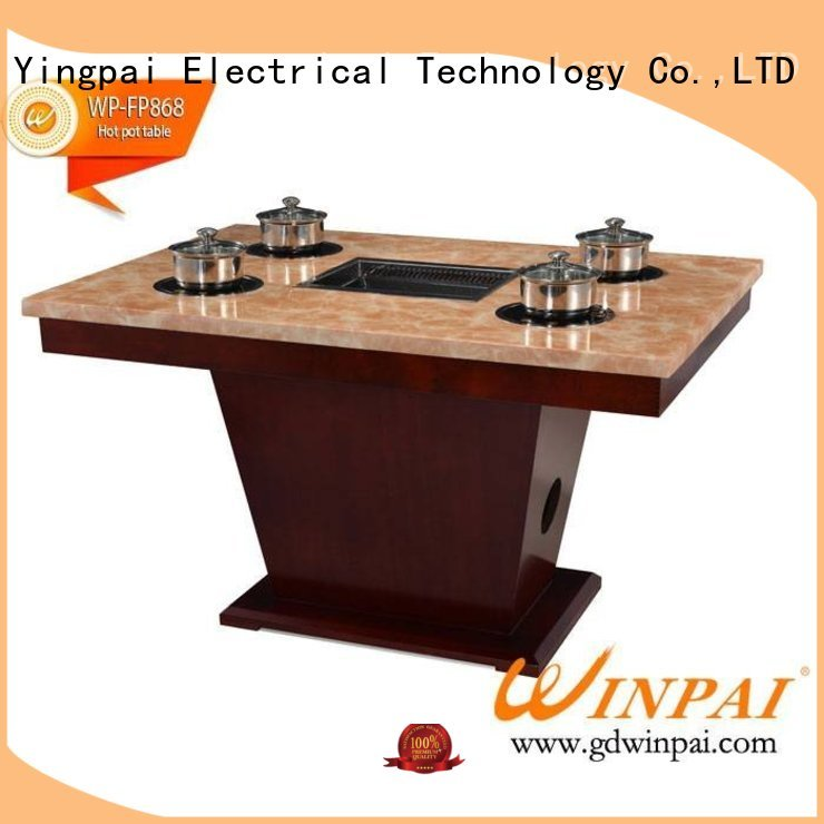 WINPAI winpai korean barbecue grill table for business for hot pot city