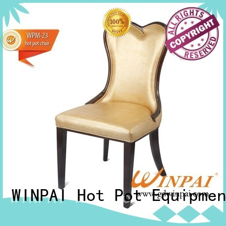 WINPAI New small white wooden chair for home